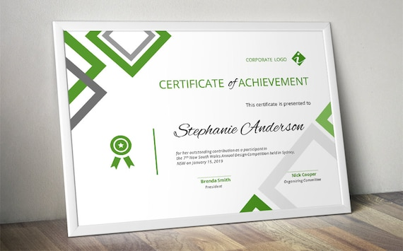Diamond corporate business certificate template for ms word etsy diamond corporate business certificate template for ms word docx business certificate event certificate certificate of achievement cheaphphosting Image collections