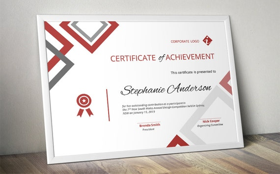 Diamond corporate business certificate template for ms word etsy image 0 cheaphphosting Images
