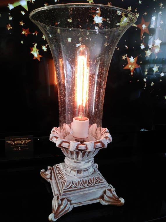 Seeded Glass Vase Lamp Etsy