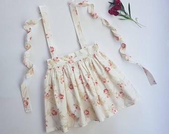 Suspender Skirt, floral, size 1, size 2, size 4