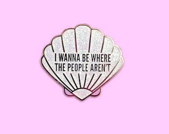 Antisocial Mermaid Pin