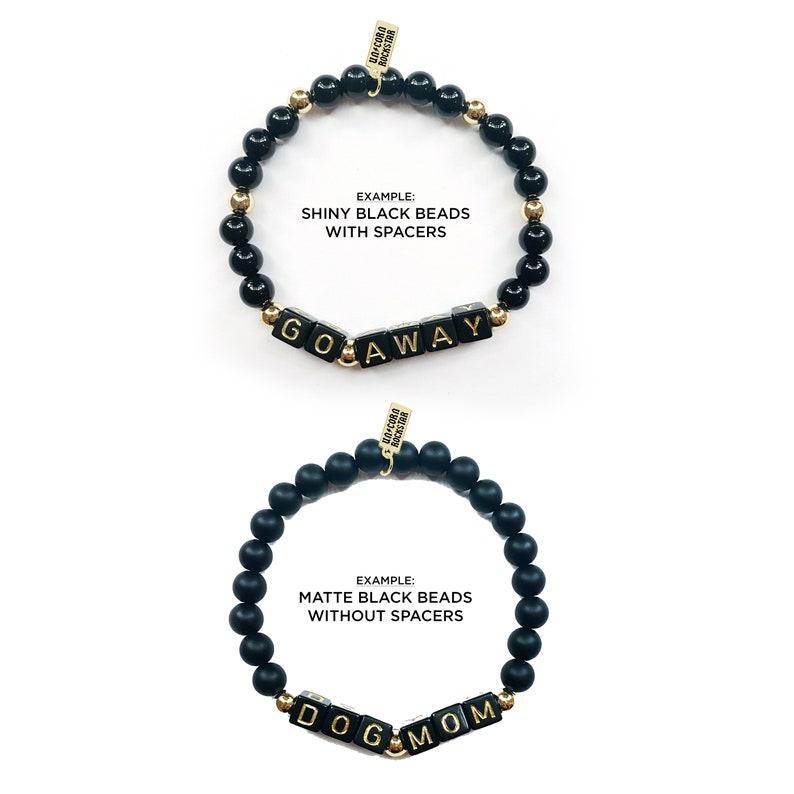 Trust No One Word Bracelet Set
