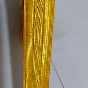 5 Yards HALEN 1//2 Yellow Gold Bullion Braid Trim with Diagonal Rib