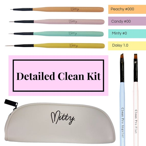 Nail Art Detail Clean Up Brush Kit By Mitty Etsy