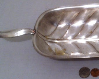 """Vintage Metal Silver Dish, Table Display, Kitchen Decor, Tarnished and Can Be Shine Up to a Nice Shine with A Good Cleaning, 14 1/2"""""""
