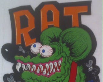 Vintage Hand Painted Wooden Sign, Car Club, Rat Rod, Humor, 23 x 17, Garage Decor, Man Cave Decor