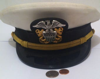 Vintage Officers High Peek Hat 0792465acf79