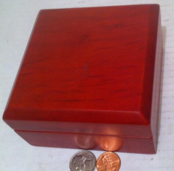 Genial Vintage Wooden Storage Box Jewelry Box Soft Inside 4 X 4 X | Etsy