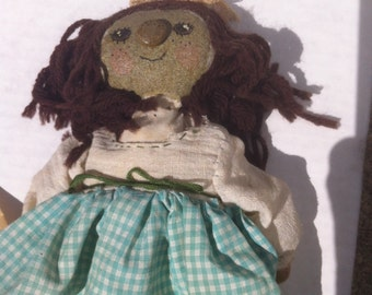 Vintage Rock Doll, Doll Made out of Rocks, Head is a Rock, Feet, Stuffing, Pretty Neat Doll, A Doll Made out of Rocks, Vintage Rock Doll