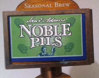 """Vintage Beer Tap, Sam Adams Noble Pils, 13 1/2"""" Tall, Bar Decor, Garage Decor, Man Cave, Collectible Beer Tap, Normal Used Vintage Condition"""