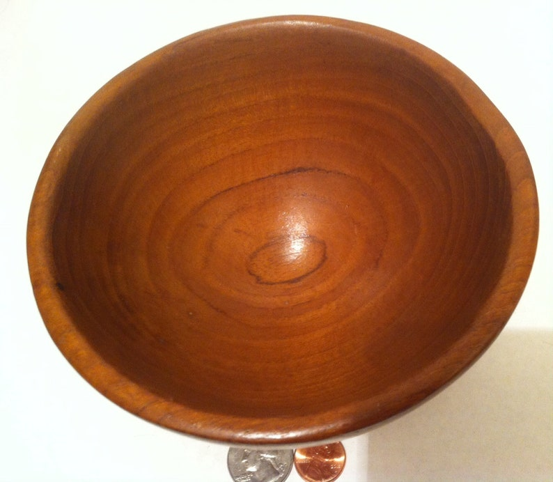 Quality Wooden Bowl Candy Keys 6 x 3 Made in Thailand Shelf Decor Vintage Quality Hardwood Teak Wood Bowl Spare Change