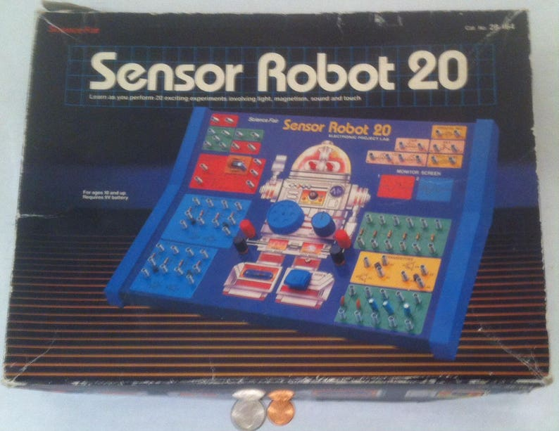 Vintage Science Fair, Sensor Robot 20, Touch Sensor, Voice Sensor, Magnet  Sensor, Light Sensor, Toy, Fun, Educational, Entertaining