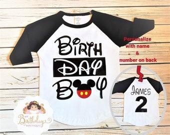 Birthday Boy ShirtTshirtBoy T ShirtMickey Shirtraglan Shirtbaseball BirthdayDisney BirthdayMickey Mouse Shirt