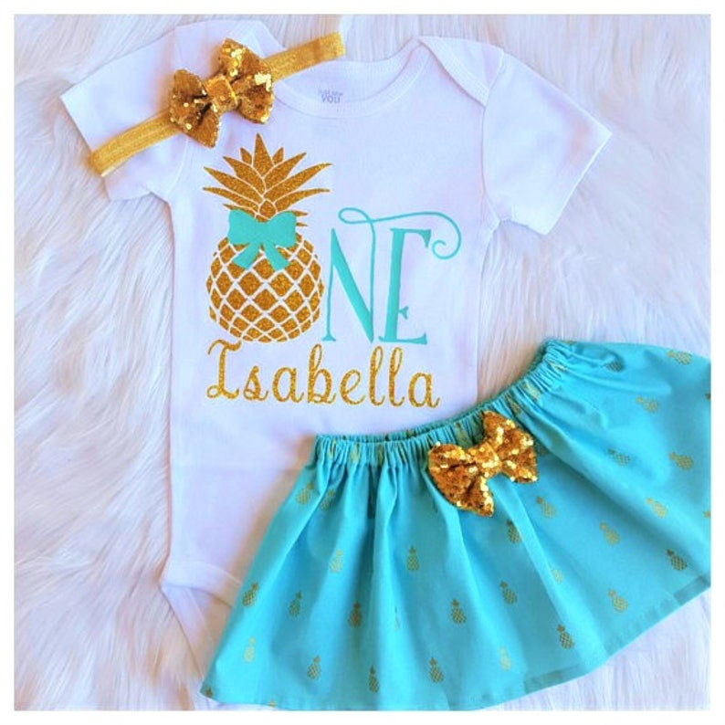 e89e1b433190 Pineapple Birthday OutfitPineapple 1st Birthday SetPineapple