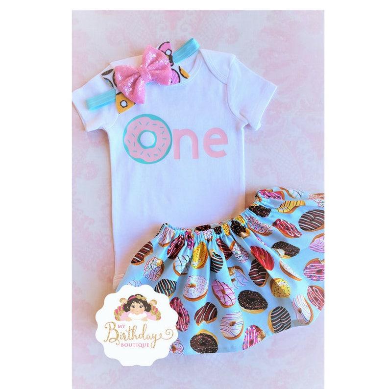 b0f591b8f Donut First Birthday Outfit GirlGirls First Birthday Outfit | Etsy