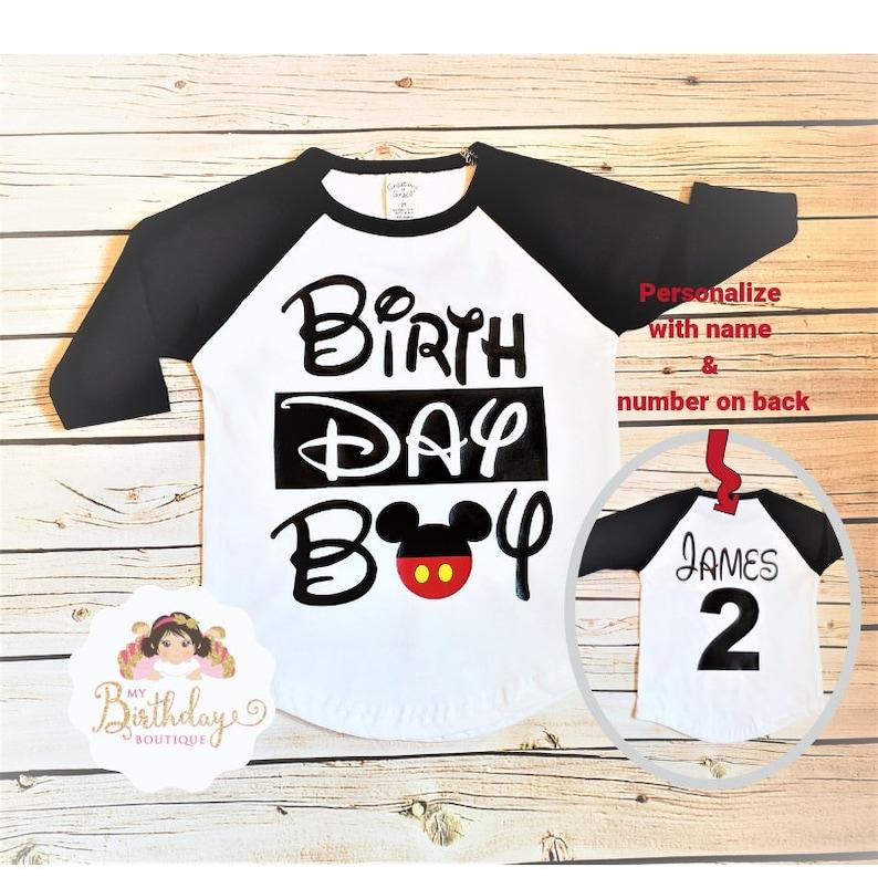 Birthday Boy ShirtTshirtBoy T ShirtMickey