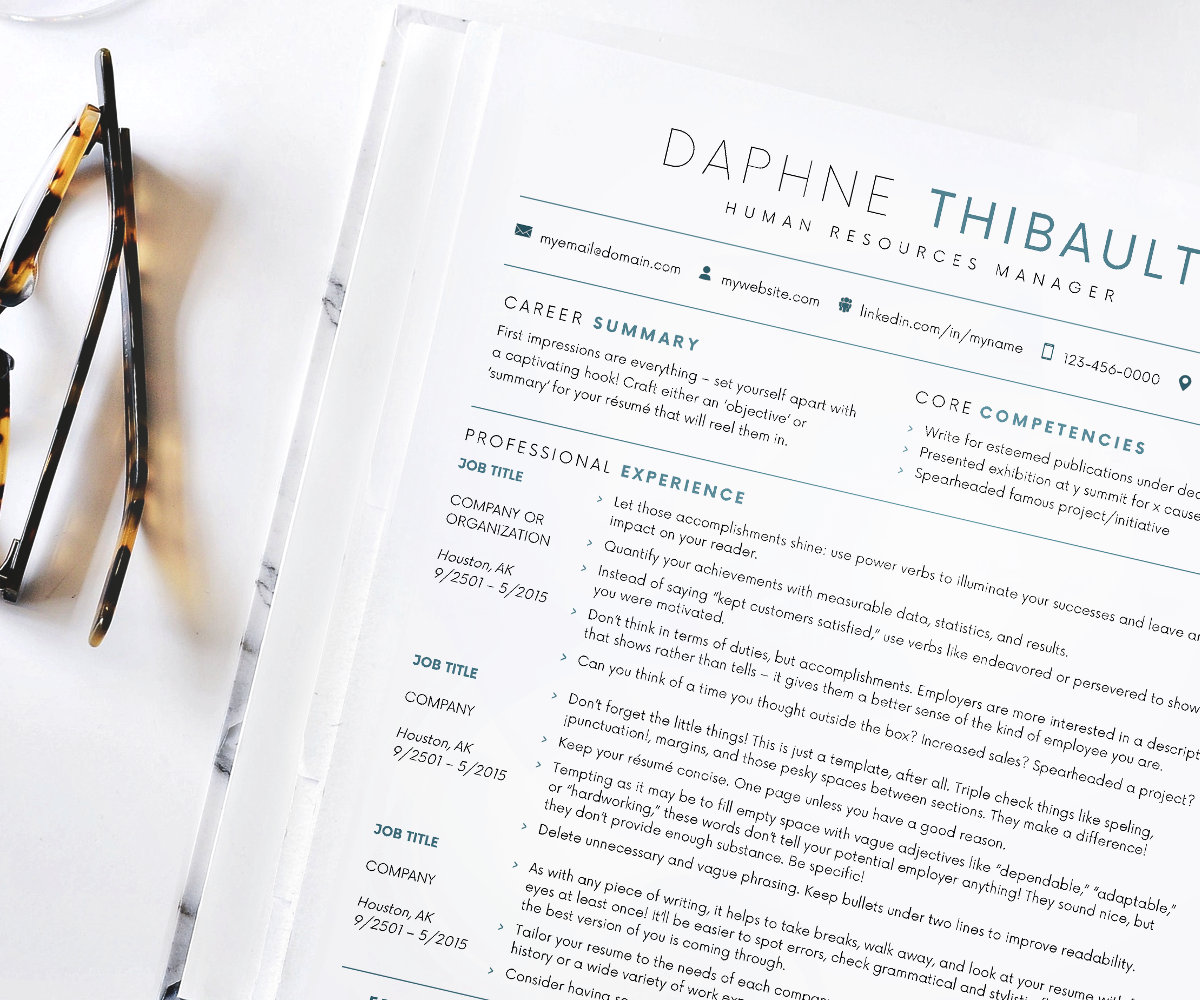 resume minimal resume template for word customize instant