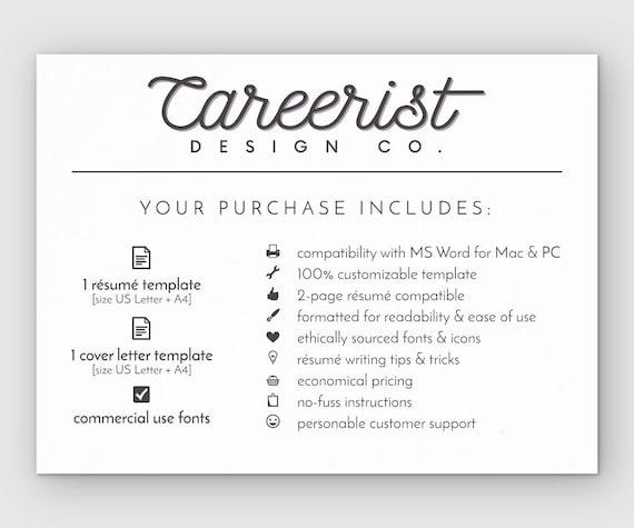 Lebenslauf Vorlage Instant Download Farbverlauf Lebenslauf   Etsy