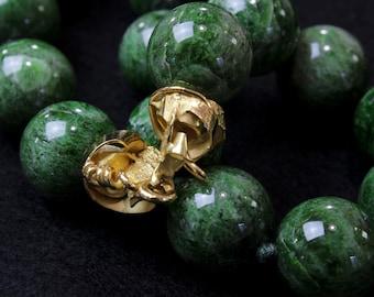 """Necklace in Tzavorrite massive """"green garnet"""""""