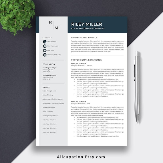 2020 Professional Resume Template For Word Cv Template Word Modern Resume Creative Resume Teacher Resume Template Instant Download