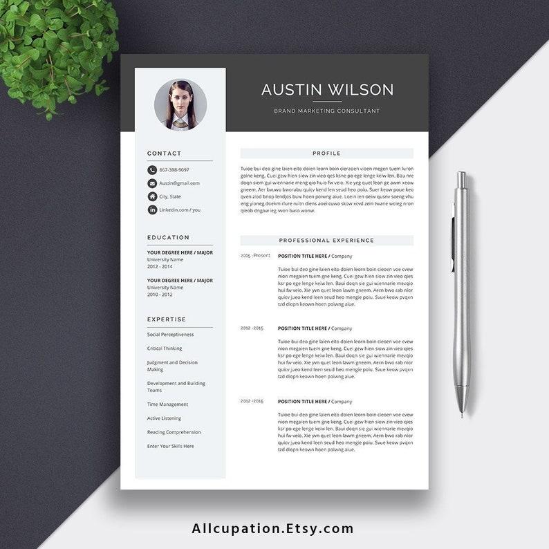 2019 Student Graduate Resume CV Template Digital MS Word