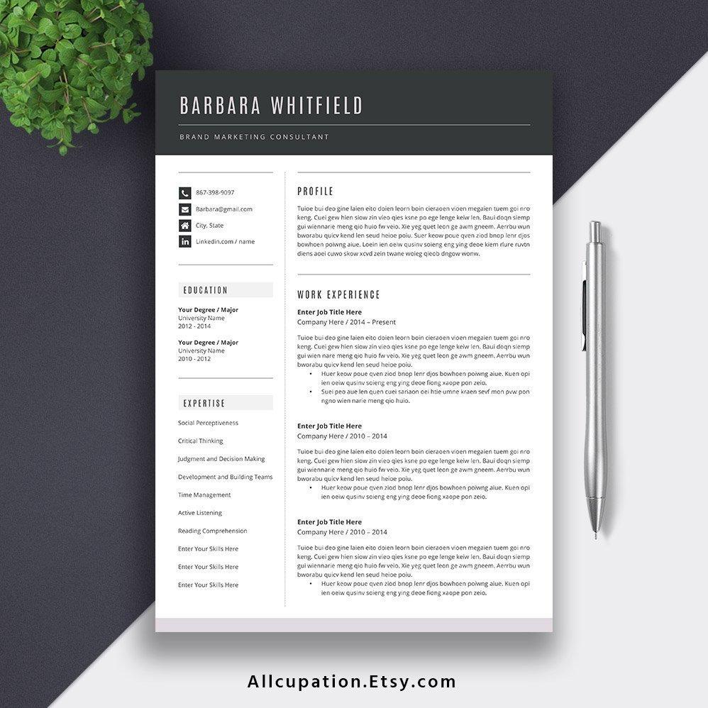 2019 professional resume template modern cv template word