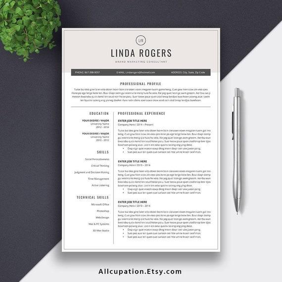 2019 Creative Resume CV Template, Graduate Resume, Student Resume,  Internship Resume, Word Resume Editing Guide, Resume Icons. Linda Resume