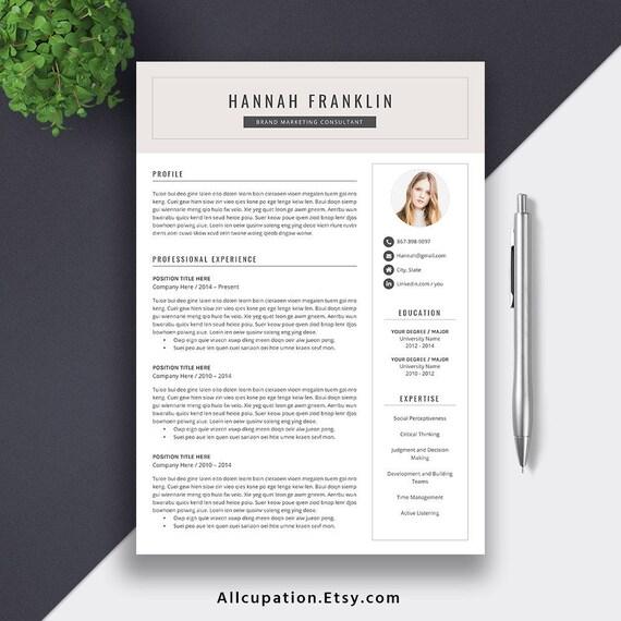 2019 Graduate Resume Cv Template Resume Editing Tips Guide Creative Modern Digital Word Resume Student Internship Resume Hannah Resume