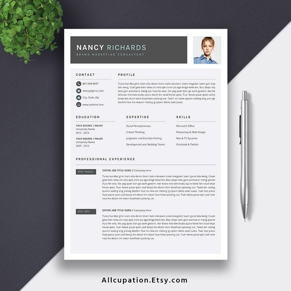 Modern Resume 2019 Professional Resume CV Template