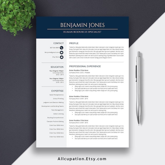 2019 Resume Template Cover Letter Improved For Employability Super Easy To Use Fully Compatible With Ms Office For Mac And Pc Benjamin