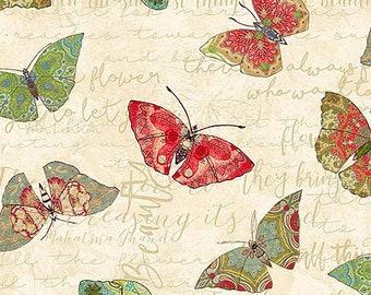 Fat quarter fabric quilt 45 x 55 cm Butterfly