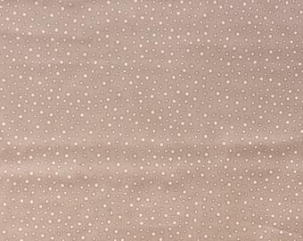 Fat quarter fabric quilt 45 x 55 cm Brown dots