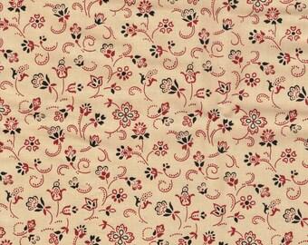 Fat quarter fabric quilt 45 x 55 cm beige fish