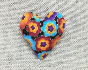 Fabric magnet heart shape