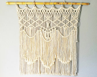 Large Handmade Macrame Wall Hanging Bohemian Decor For Home Decor or Housewarming Gift. Boho Decoration Home Gift or Gallery Wall/Accent