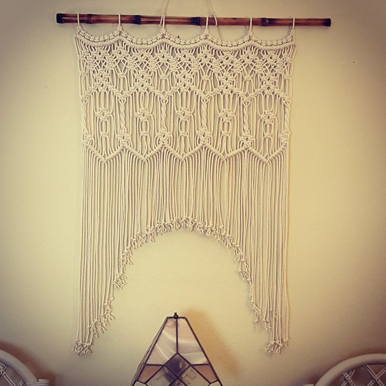 Large Macrame Wall Hanging Macrame Wall Art Macrame Curtain image 0