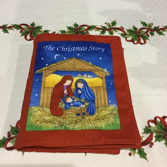 The Christmas Story Book.Christmas Story Soft Book Storybook Birth Of Jesus Religious Book Children S Book Bedtime Storybook Fabric Book Washable Cloth Book