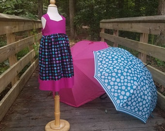 Adorable halter dress, sun dress, OOAK, 4t, ready to ship, girl's dress, boutique clothing, toddler dress, girl's boutique dress