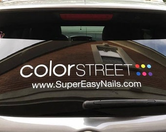 "Color Street Car Decal | Color Street | 24"" wide"