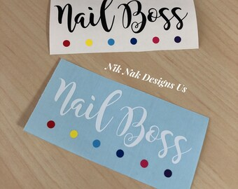 Nail Boss Decal |Color Street Decal | Color Street Nail Boss Decal
