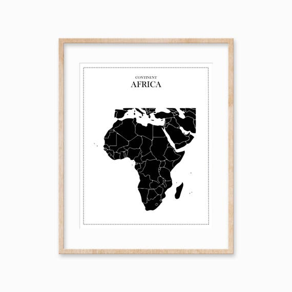 graphic about Printable Africa Map titled Africa Printable Map Africa Poster Africa Map Poster Africa Map Map Wall Artwork Printable Planet Map Black Africa Map Map Prints