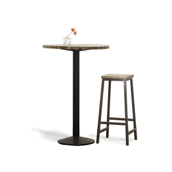 Poseur Table Tall Round Bar Table Solid Wood Suits Homes Etsy