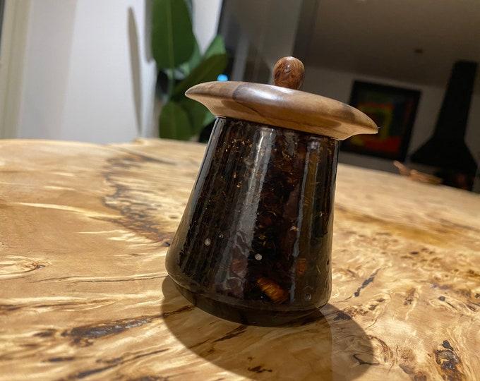 Wood Shavings & Resin