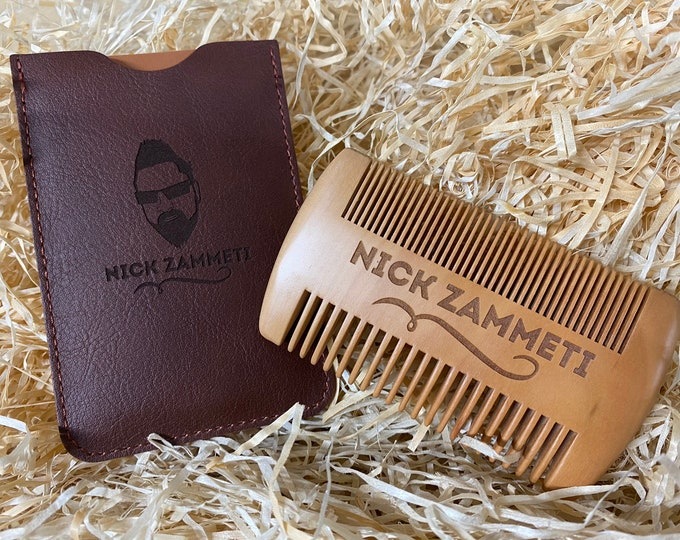 Zammeti Peach Wood Beard Comb