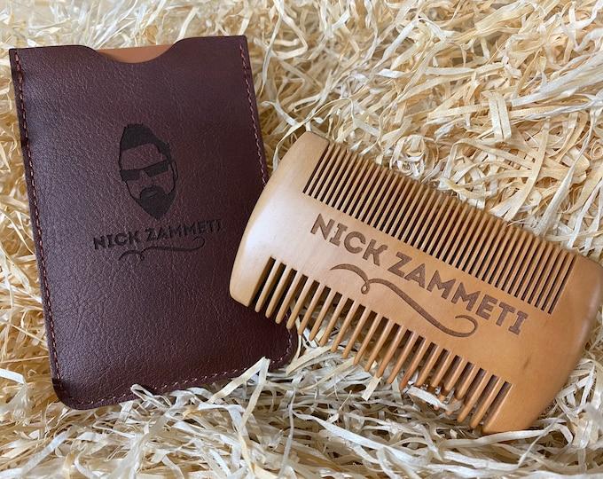 Zammeti Peach Wood Beard Comb
