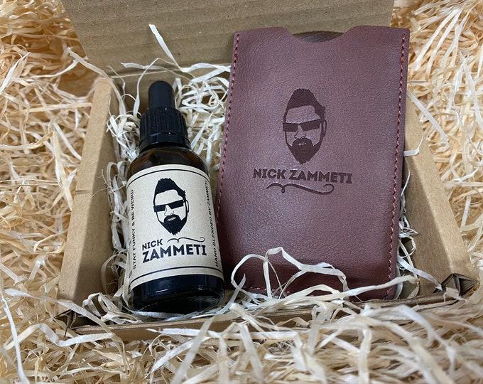 Zammeti Beard Oil & Comb Gift Set - Sandalwood Comb