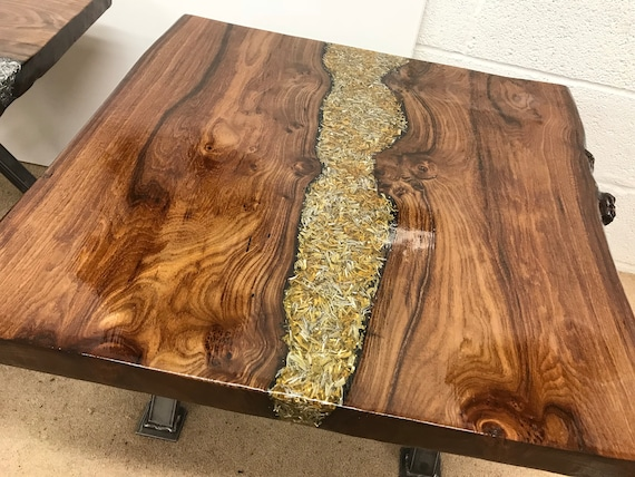 The Gold Metal River Table #005