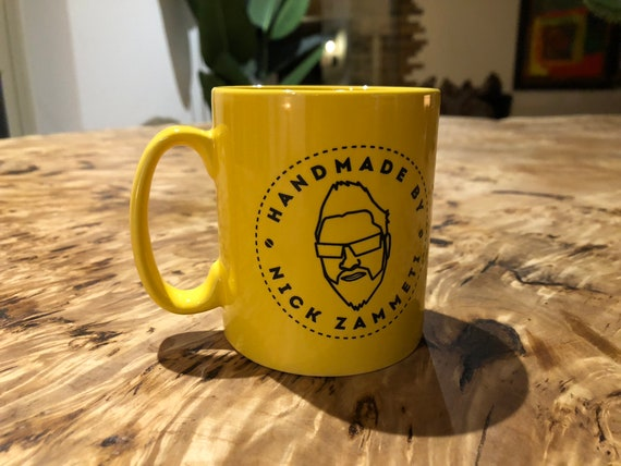 Handmade By Nick Zammeti Mug (Yellow)
