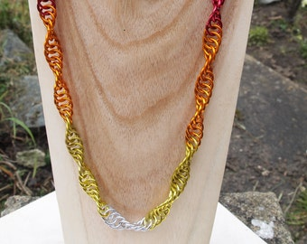 Embers helix necklace