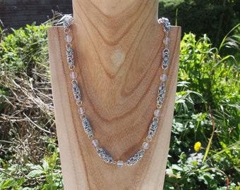 Opalite byzantine necklace